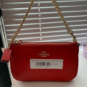 small red coach purse